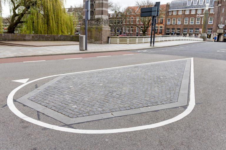 Centrum 's-Hertogenbosch straten, midden-geleiders en rotondes duurzaam onkruidvrij
